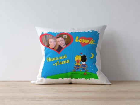 """Подушка """"Love is..."""""""