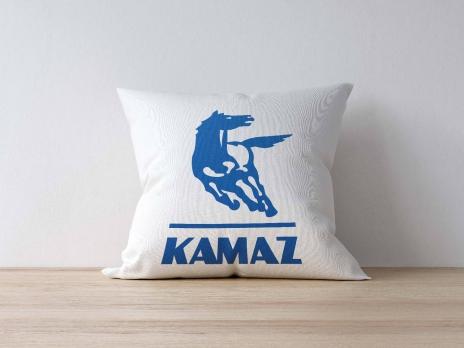 Подушка с логотипом КАМАЗ