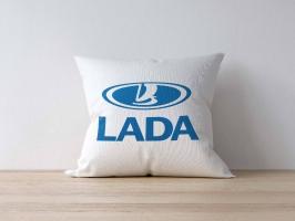Подушка с логотипом ЛАДА
