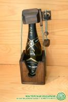 Деревянная головоломка на бутылку