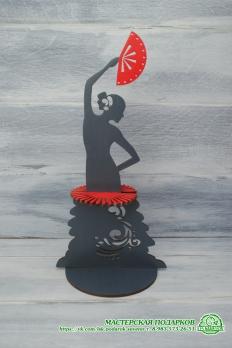 Салфетница Девушка с веером