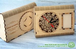 Настольные часы из фанеры