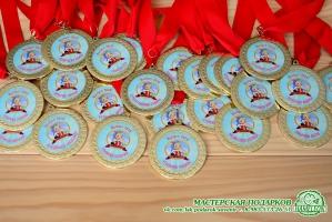 Медаль металлическая с фотопечатью для выпускника D=70 мм