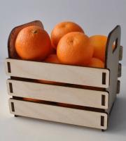 Декоративный ящик под мандарины.
