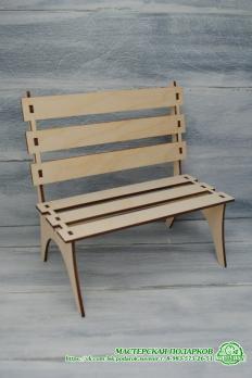 Кукольная скамейка из фанеры