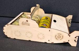 Подводная лодка - подставка под 3 банки пива